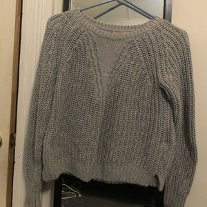 Small petite gray banana republic sweater